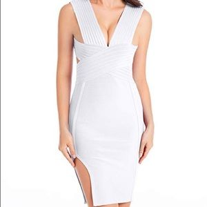 Dresses & Skirts - White bandage cut out dress